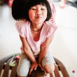 Adorable little girl - shallow DOF, focus on eyes — Stock Photo