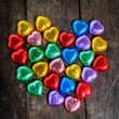 Stock Photo: Colorful heart shape chocolate for Valentine's Day