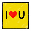 Icon with I Love Heart You Message written with Chalk — Stock Photo