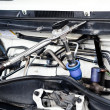 Stock Photo: Gas injector installed in gasoline engine to use cheaper alterna