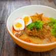 Stock Photo: Springy Noodles with Steaming Hot and Spicy Soup,Tonkatsu noodle
