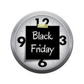 Покупая время: часы, крайний срок для начала Черная пятница покупки s — Стоковое фото