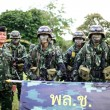 PRANBURI, THAILAND, 25TH NOVEMBER 2013, Members of the armed for — Stock Photo