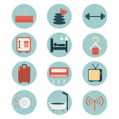 Hotel facilities icons. — Stock Vector