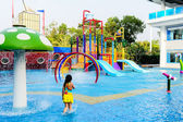 Small water park playground. — Stock Photo
