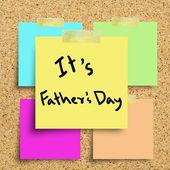 Fästis med glad fäder dag på en anslagstavla i kork. — Stockfoto