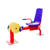 Exercise equipment isolated on white background, clipping path — Stock Photo
