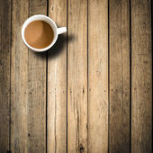 Coffee Mug on Wooden Table — Stock Photo