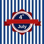 Mutlu Bağımsızlık günü Amerika Birleşik Devletleri, 4 Temmuz araba — Stok Vektör