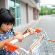 Girl with shopping cart. — Stock Photo #51232341