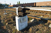 Signal light on the railway station — Стоковое фото