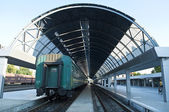 Train at the station — Stock Photo