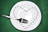 Plate with ants — Stock Photo