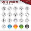 Glass Buttons WEB — Stock Vector