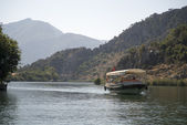 On river Dalyan,Turkey — Stock Photo
