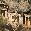 Likijsky tombs on the river Daljan, Turkey — Stock Photo