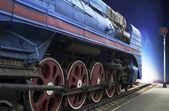 青いエクスプレス蒸気機関車 — ストック写真
