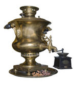Samovar and coffee grinder is made in 1901 — Stock Photo