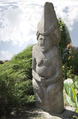 Sculpture of the woman-ancestor.Polovcy.12 cent. — Stock Photo