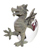 Clay dragon — Stock Photo