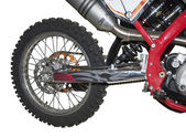 Back suspension bracket of a sports motorcycle — Stock Photo