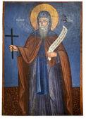 древняя икона из монастыря панагия kera.island крит — Стоковое фото