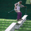 Rostov-on-Don, Russia, September 26, 2013 - athlete jumps on — 图库照片 #31405351