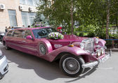 ROSTOV-ON-DON, RUSSIA-SEPTEMBER 21 - Beautiful car decorated wit — Stock Photo