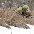 Russian spy in ambush — Stock Photo #41379367