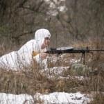 Russian spy in ambush — Stock Photo #41379377
