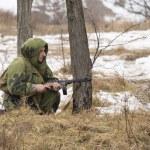 Russian spy in ambush — Stock Photo #41379395