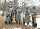 Rangschikking duitse fascistische soldaten — Stockfoto