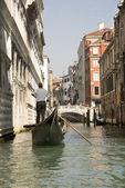 View Rio de Palazzo o de Canonica of the gondola. Venice. Italy — Stockfoto