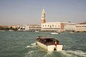 View of the Piazza San Marco from the boat. Venice. Italy — Stock Photo