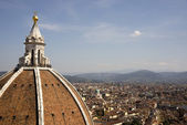 View of Florence from the campanile Giotto — Stok fotoğraf