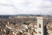 View of Florence with the Duomo — Stok fotoğraf