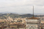 View of Florence with the Duomo — Стоковое фото
