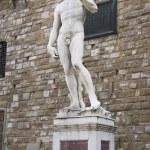 David in Piazza della Signoria. Florence — Stock Photo #47283573