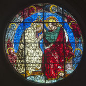 Stained Glass Duomo. Florence — Stock fotografie