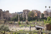Tourists visiting the Roman Forum  — Stock Photo
