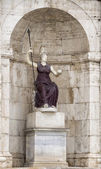 "Sculpture of the goddess Minerva - ""Jubilant Rome."" Palace of th — Stock Photo"