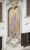 Fresco of the Virgin, the work of the 17th century. Rome — Stock Photo
