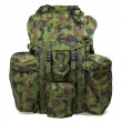 Military backpack isolated on white. Clipping path. - Stock Photo