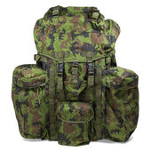 Military backpack isolated on white background. Clipping path (without shadow). — Stock Photo