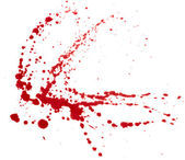 Blood splatters isolated on white. Clipping path. — Stock Photo