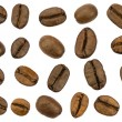 Roasted coffee beans isolated. Separate clipping paths — Stock Photo
