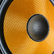 Stock Photo: Audio speaker membrane