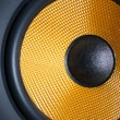 Audio system yellow speaker — Stock Photo
