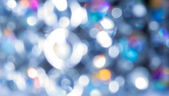 Blue and white bokeh background — Stock Photo