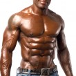 Stock Photo: Strong bodybuilder mwith perfect abs, shoulders,biceps, triceps and chest